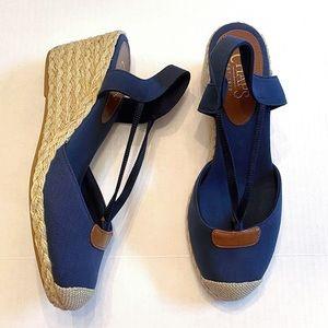 Chaps   Clarisa Espadrille Wedge Sandals Size 9